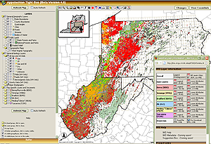 Image of the Appalachian Tight Gas application