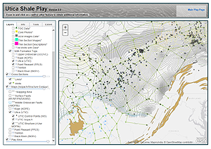 Image of the Utica Shale Map application