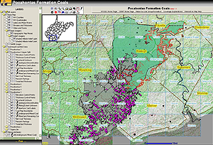 Image of the Pocahontas Coal Beds Map application